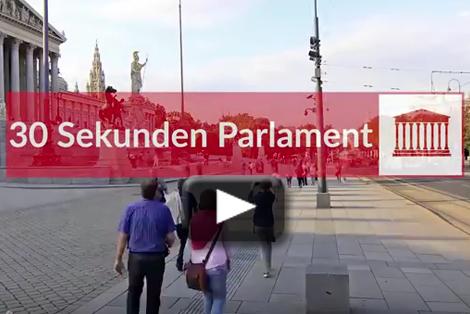 Video: 30 Sekunden aus dem Parlament mit SPÖ-Klubobmann Schieder